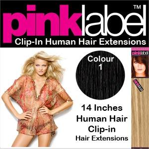 Pink Label Clip in Hair Extensions Colour 1