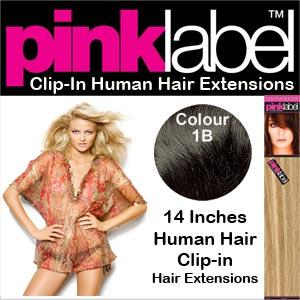 Pink Label Clip in Hair Extensions Colour 1B