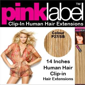 Pink Label Clip in Hair Extensions Colour P27/SB