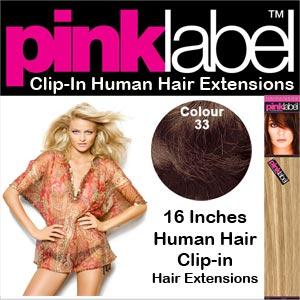 Clip in Human Hair Extensions Colour 33