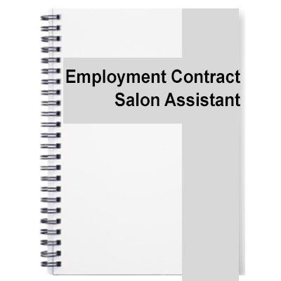 Salon assistant contract of employment altavistaventures Choice Image