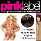 Pink Label Clip in Hair Extensions Colour 6