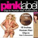 Clip in Human Hair Extensions Colour 10