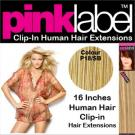 Clip in Human Hair Extensions Colour P18/SB