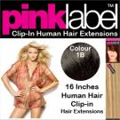 Clip in Human Hair Extensions Colour 1B