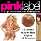 Clip in Human Hair Extensions Colour 27
