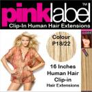 Clip in Human Hair Extensions Colour P18/22
