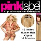 Clip in Human Hair Extensions Colour P27/SB