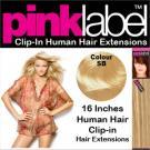 Clip in Human Hair Extensions Colour SB